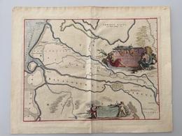 Batavorum Insulae Et Continentis - Carte Topografiche