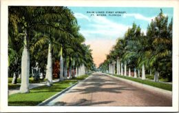 Florida Fort Myers Palm Lined First Street - Fort Myers