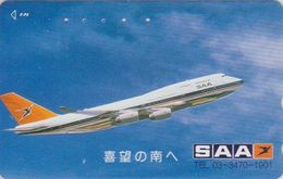 Télécarte JAPON / 110-011 - AVION SAA - SOUTH AFRICA AIRLINES - AIR PLANE JAPAN Phonecard - Aviation 2407 - Avions