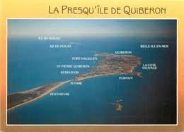 LA PRESQU ILE DE QUIBERON Vue Generale 3(scan Recto Verso)MF2740 - Quiberon