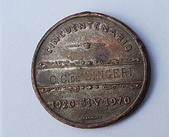 MEDALLA 1970 COOPERATIVA USINAS ELECTRICAS Y TELEFONOS DEL ESTADO C.C. DE LINGERI - Gewerbliche