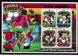 273Q * NORDKOREA * BLOCK DER FUSSBALLWELTMEISTERSCHAFT IN SPANIEN 1982 **! - Korea, North
