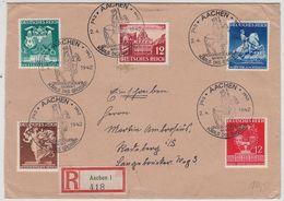 Deutsches Reich R-Brief Mit Satzfrankatur Und Selt.SST Aachen Nach Radeberg AKs - Alemania