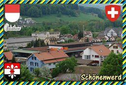 Postcard, REPRODUCTION, Switzerland, Canton Solothurn, Schönenwerd - Landkaarten