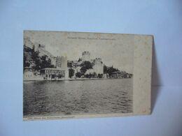 ROUMELI HISSAR BOSPHORE  CONSTANTINOPLE TURQUIE AUJOURD'HUI ISTANBUL CPA 1886 EDITEUR MAX FRUCHTERMANN  CONSTANTINOPLE - Türkei