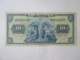 Rare! Germany/FRG-Bank Deutscher Lander 10 Mark 1949 Banknote - 10 Deutsche Mark