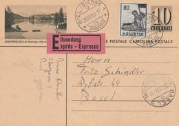 Schweiz: 1956: Ganzsache Biel Lenzerheide Als Eilboten Nach Basel - Non Classés