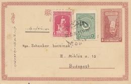Türkei: 1923: Ganzsache Konja Nach Budapest - Turchia