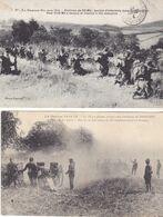 BAC19- MILITARIA  LOT 2 CPA  CIRCULEES GUERRE 1914  SECTION INFANTERIE PRES DE REIMS ET SECTION ARTILLERIE SOISSONS - Guerre 1914-18