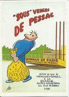 Bourses & Salons De Collections Cercle Cartophile Bordelais 1988 Sous Venirs De Pessac - Collector Fairs & Bourses