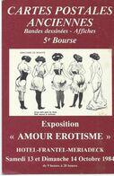 5eme Bourse Cercle Cartophile Bordelais Amour Erotisme 1984 - Collector Fairs & Bourses