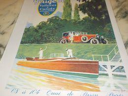 ANCIENNE PUBLICITE VOITURES ET CANOTS AUTOMOBILES  PEUGEOT 1927 - Cars