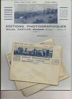 LOT 10 PAPIER A LETTRES ENVELOPPES EN-TÊTE CARTIER PHOTOGRAPHE MONTMOREAU 16 - Altri