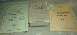 LIVRE : LOT DE 3 LIVRES :  MANUEL DE PREPARATION AU CERTIFICAT INTERARMES TOME I , LA REPARATION AMIABLE OU JUDICIAIRE D - Books