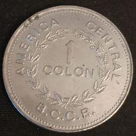 COSTA RICA - 1 COLON 1976 - KM 186.4 - ( Petits Bateaux, 7 étoiles Dans Les Armoiries, 9.74 Gr. ) - Costa Rica