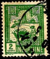 Indochine Poste Obl Yv:128 Mi:128 Laboureur & Tour De Confusius (TB Cachet Rond) - Indochine (1889-1945)