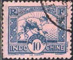Indochine Poste Obl Yv:216 Mi:169 La Rizière (Beau Cachet Rond) - Indochine (1889-1945)