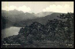 SÃO TOMÉ E PRÍNCIPE -Paísagem De Montanha. ( Ed. Do Governo De S. Tomé E Príncipe)  Carte Postale - São Tomé Und Príncipe