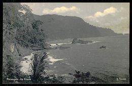 SÃO TOMÉ E PRÍNCIPE -Paísagem Da Costa. ( Ed. Do Governo De S. Tomé E Príncipe)  Carte Postale - São Tomé Und Príncipe