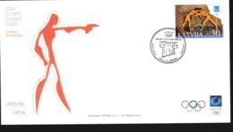 Latvia FDC 2004 Athens Olympic Games (NB**LAR9-156) - Summer 2004: Athens
