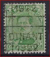 Koning Albert I Nr. 137 Voorafgestempeld Nr. 2837 II Positie C Met Voorafstempeling DINANT  1922 ; Staat Zie Scan ! - Rolstempels 1920-29