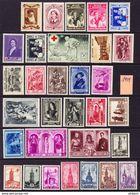 BELGIQUE, ANNEE 1939, 31 VALEURS, ** MNH. (LOT370) - Belgium