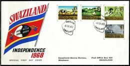 FP2003 Swaziland 1968 Independence Day Flag Map FDC - Swaziland (1968-...)