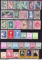 BELGIQUE, ANNEE 1958, 48 VALEURS, ** MNH. (LOT384) - Belgium