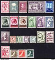 BELGIQUE, ANNEE 1956, 22 VALEURS, **  MNH. (LOT382) - Belgium