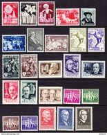 BELGIQUE, ANNEE 1955, 25 VALEURS, ** MNH. (LOT381) - Belgium