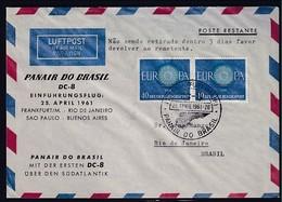 Bund Luftpost-Ausland-Brief Mit Me.F. Mi.-Nr. 339 Nach Brasil - Covers & Documents