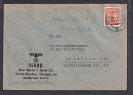 DR. Dienst-Brief Innerhalb Berlin Von 13.4.45 Mit EF. Mi.-Nr. D 160 - Officials