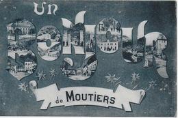 """Moutiers -  Carte Fantaisie : """"Un Bonjour De Moutiers"""" , Multi-vues - Moutiers"""