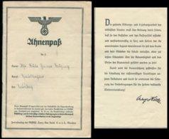 WW II Heft Ahnenpaß 48 Seiten: Gebraucht ,Eintragungen Aus Weener, Bedarfserhaltung. - Storia Postale