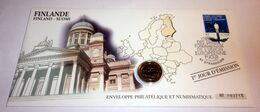 Enveloppe Philatélique Et Numismatique - Finlande - 1 Euro 1999 - Finlandia