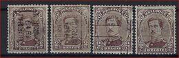 Koning Albert I Nr. 136 Voorafgestempeld Nr. 2475  A + B + C + D  TOURNAI 1919 DOORNIJK  ; Staat Zie Scan ! - Voorafgestempeld