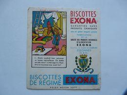 VIEUX PAPIERS - BUVARD : BISCOTTES EXONA - Lebensmittel