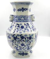 Vase CHINE  Dans Le Ton Bleu Blanc - Art Asiatique