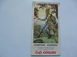 VIEUX PAPIERS - BUVARD : CAFE GOULU - Lebensmittel