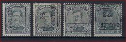 Koning Albert I Nr. 183 Voorafgestempeld Nr. 2875 A + B + C + D  CHARLEROY 22  ; Staat Zie Scan ! - Rolstempels 1920-29