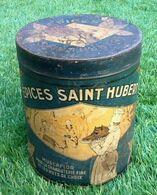Boite Publicitaire Ancienne Années 30 Les Epices Saint-Hubert Muscaflor Pour La Charcuterie Fine Et Les Mets De Choix - Boxes