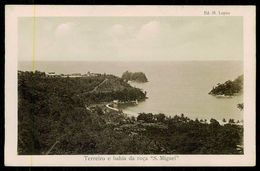 """SÃO TOMÉ E PRÍNCIPE - Terreiro E Bahia Da Roça """"S, Miguel"""" ( Ed. M. Lopes) Carte Postale - São Tomé Und Príncipe"""