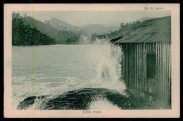 SÃO TOMÉ E PRÍNCIPE - Uma Vaga.  ( Ed. M. Lopes) Carte Postale - São Tomé Und Príncipe