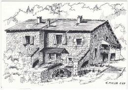 39. Gf. CHAVERIA. Le Moulin De Vaux. Dessin De C. Picod - France