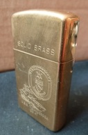 ZIPPO - U.S.S. TICONDEROGA - CG-47 - Slim - Solid Brass, Année 1991 - RT - 05  (Neuf, Jamais Servi) - Zippo
