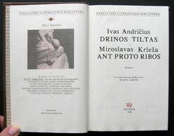 Lithuanian Book / Drinos Tiltas, Ant Proto Ribos 1988 - Libros, Revistas, Cómics