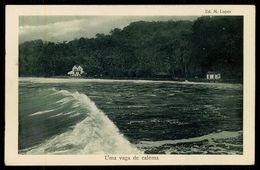 SÃO TOMÉ E PRÍNCIPE - Uma Vaga De Calêma.  ( Ed. M. Lopes) Carte Postale - São Tomé Und Príncipe