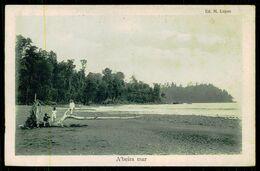 SÃO TOMÉ E PRÍNCIPE - A 'beira  Mar.  ( Ed. M. Lopes) Carte Postale - São Tomé Und Príncipe