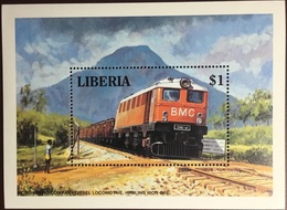 Liberia 1994 Trains Minisheet MNH - Liberia
