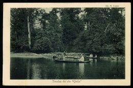 """SÃO TOMÉ E PRÍNCIPE - Trecho Do Rio """" Quija"""".  ( Ed. M. Lopes) Carte Postale - São Tomé Und Príncipe"""